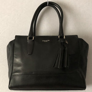 Coach Black Leather Carryall